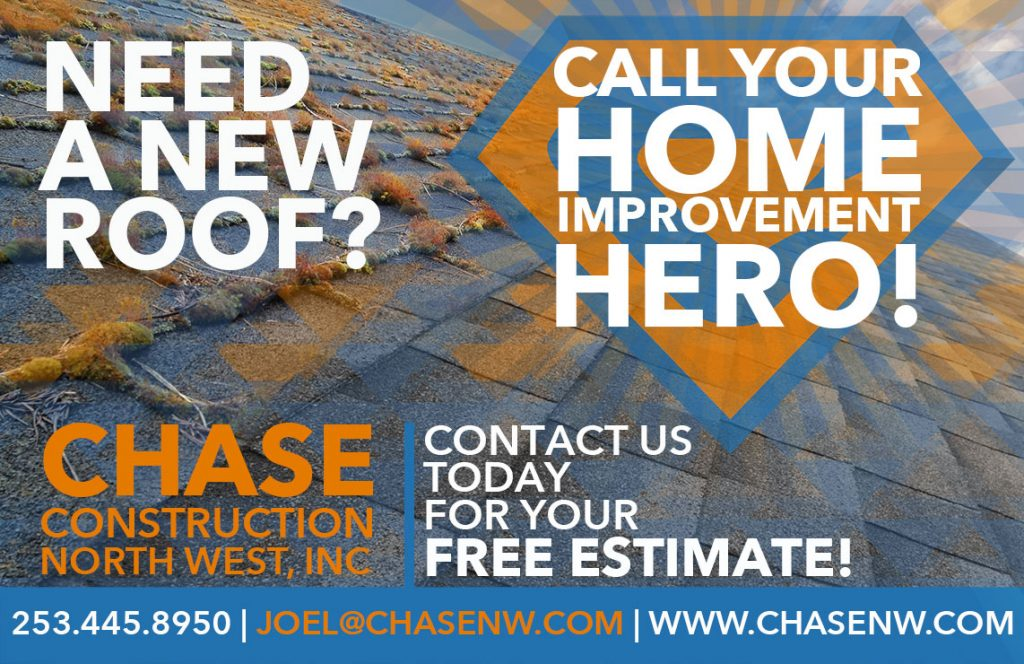 Call Chase Construction for all your roofing needs!