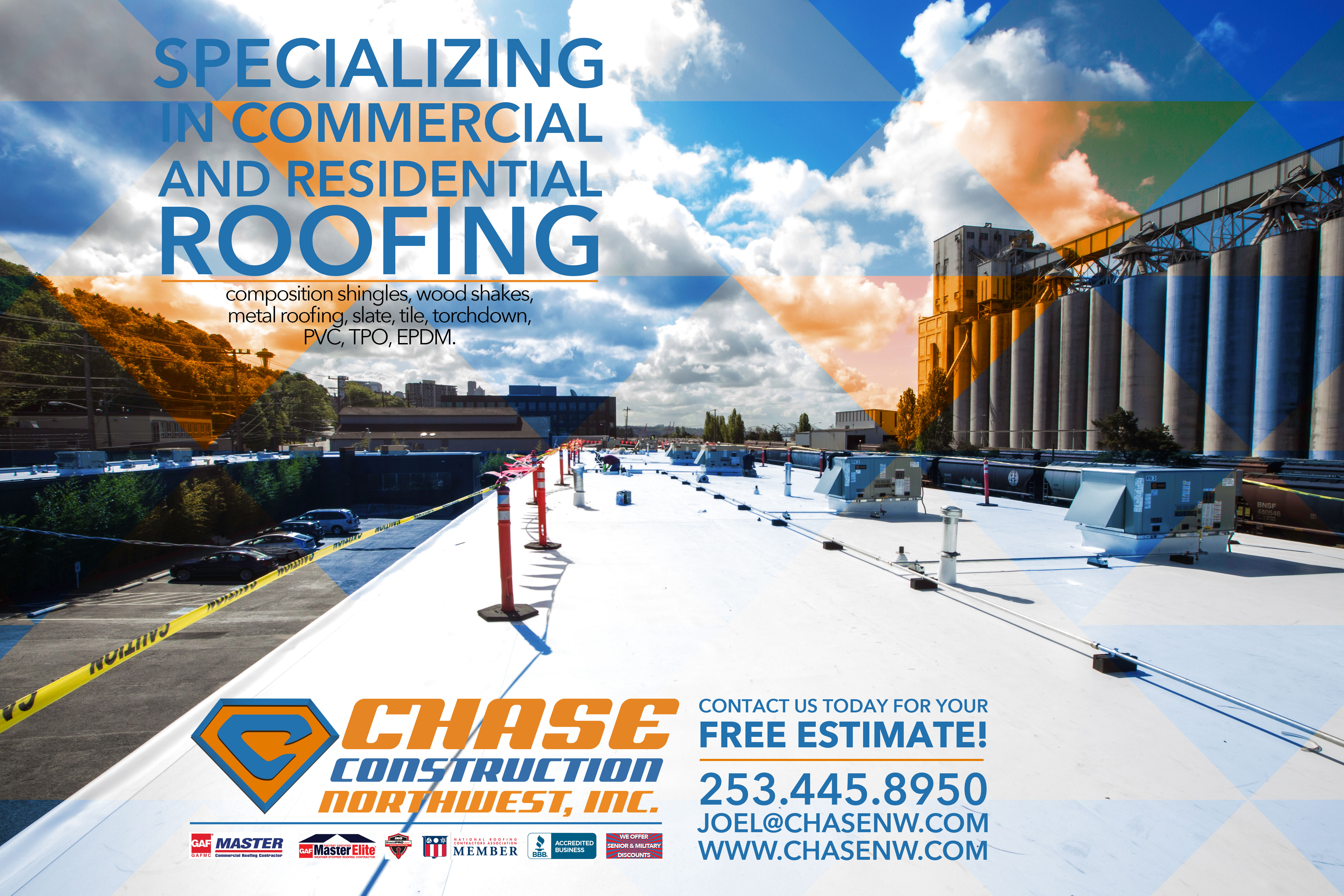 Commercial Roofing Chase Construction North West Inc.