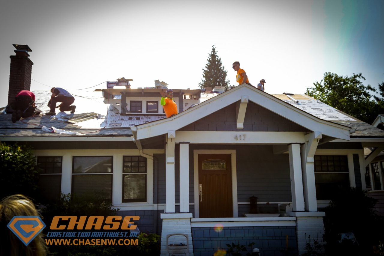 Another Beautifully Executed Roof By Chase Construction Nw
