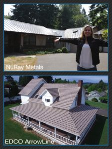 Metal Roofs installed by Chase Construction NW, Inc.