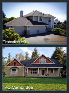 Roofs installed by Chase Construction NW, Inc.