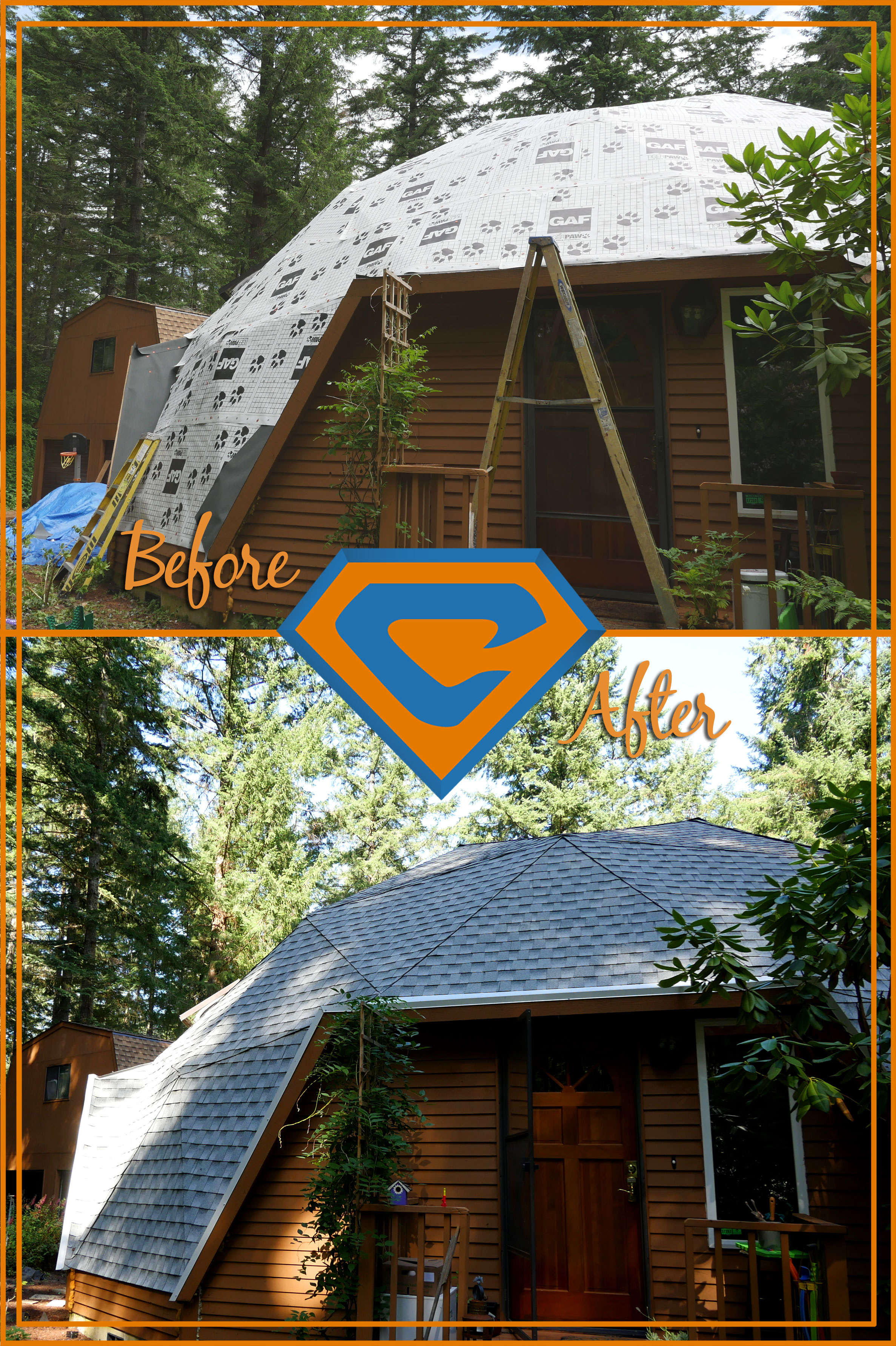 Geodesic Dome Shingle Roof In Gig Harbor Chase