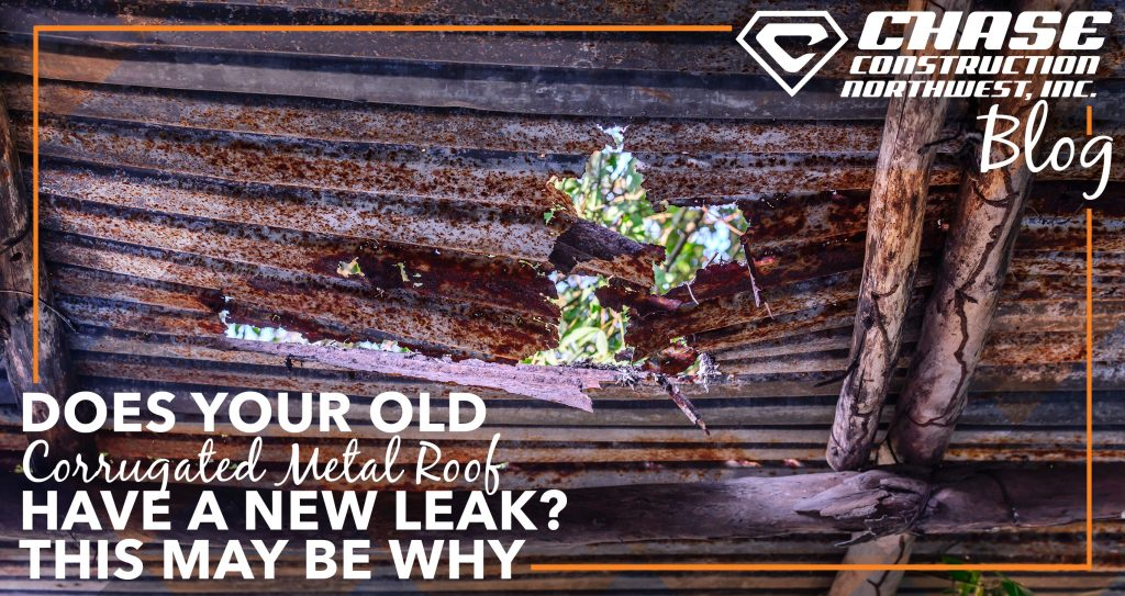 Does Your Old Corrugated Metal Roof Have A New Leak? This May Be Why